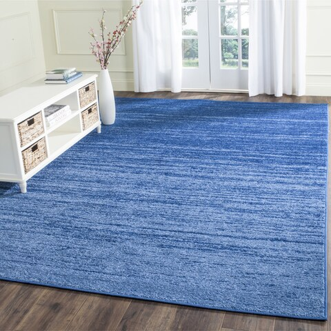 Safavieh Adirondack Vera Ombre Light Blue/ Dark Blue Rug - 8' x 8' Square