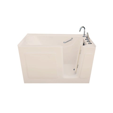 Signature Bath Biscuit Acrylic 47 x 30-inch Walk-in Soaking Tub