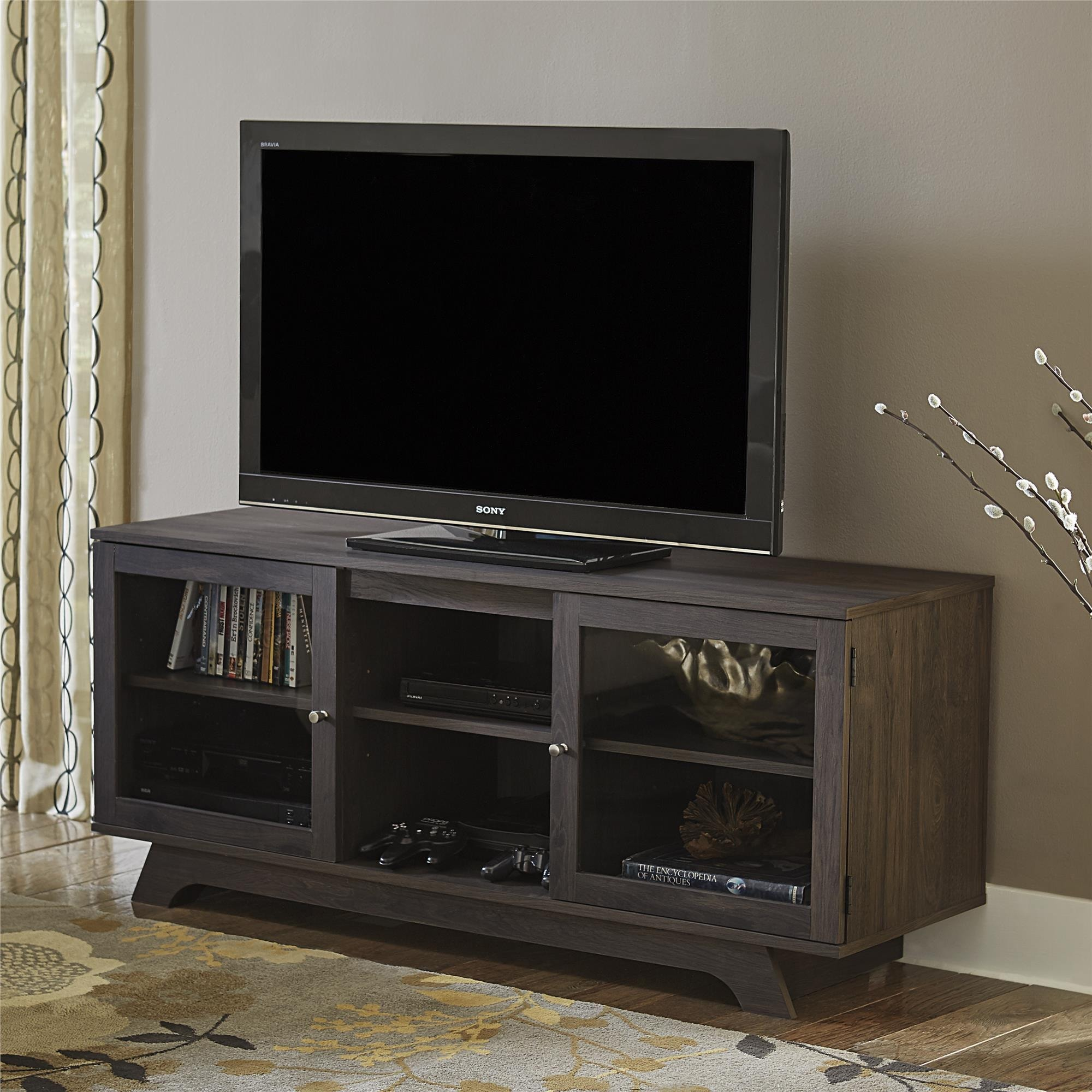 Ameriwood Home Englewood Weathered Oak 55-inch TV Stand (...