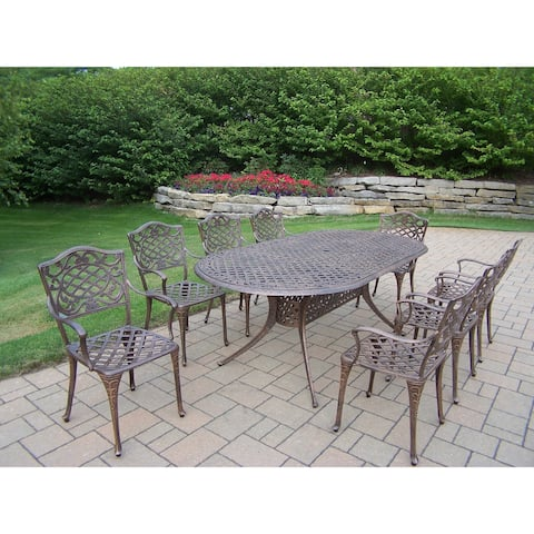 Dakota Cast Aluminum 9-piece Outdoor Dining Set