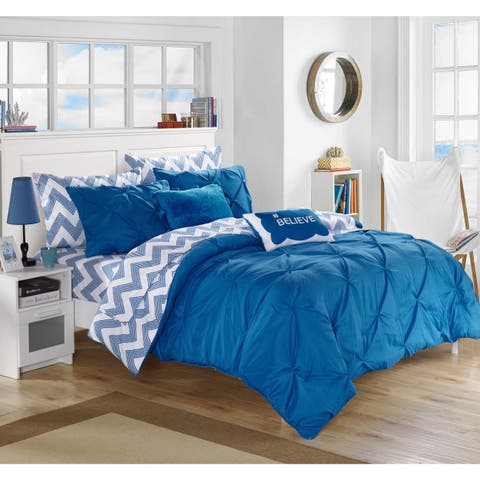 Chic Home Foxville Blue 9-Piece Bed in a Bag with Sheet Set
