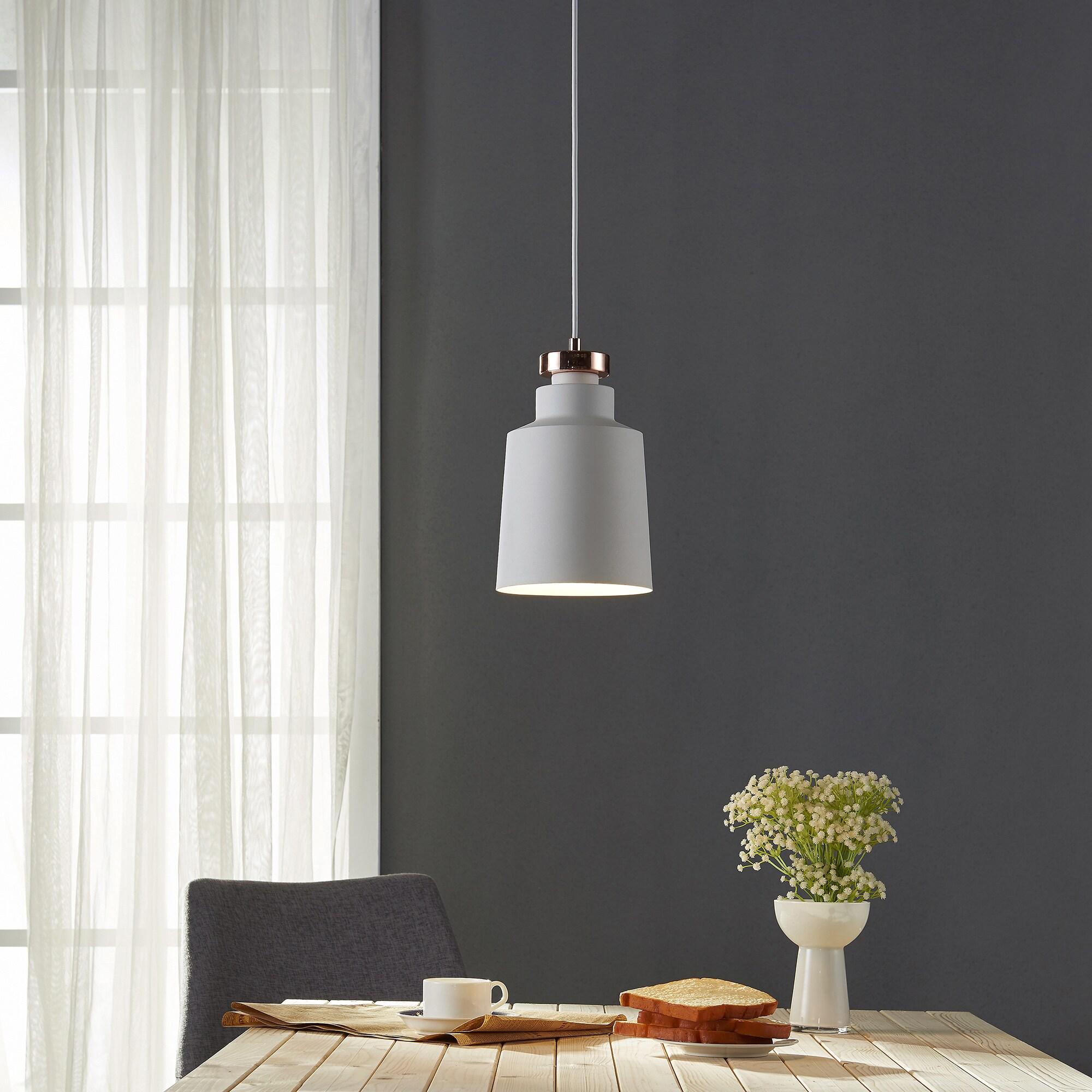 Teamson Versanora Lumiere Pendant Light With Silver Inner...