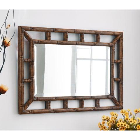 Bamboo Wall Mirror
