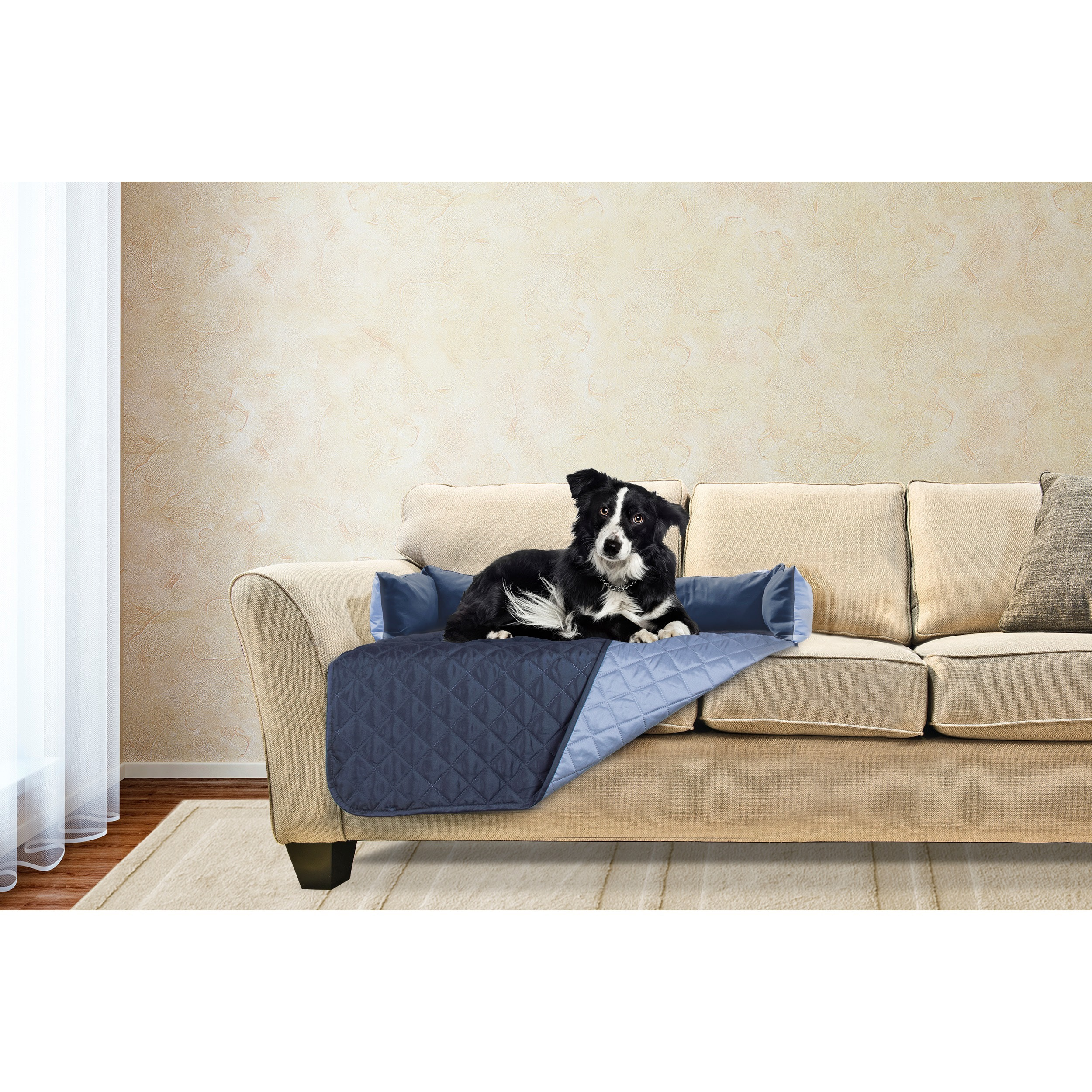 FurHaven Sofa Buddy Pet Bed Furniture Cover (Gray/Mist, M...