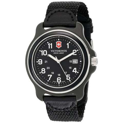 Victorinox Swiss Army Men's Black Nylon Original XL 249087 Swiss Quartz Analog Watch - N/A