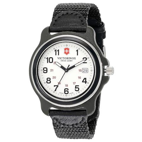 Victorinox Swiss Army Men's Black Nylon Original XL 249086 Swiss Quartz Analog Watch