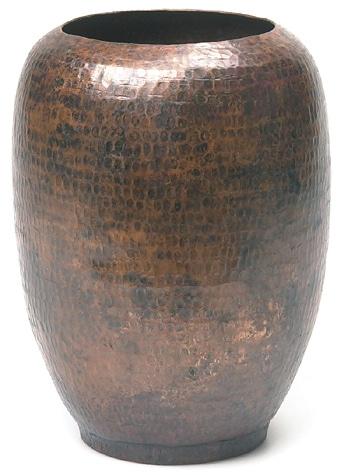 Handmade Oval Hammered Copper Vase Nepal Free