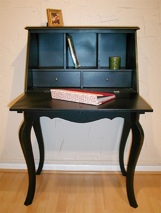 Antique Black Queen Anne Desk - Shop Antique Black Queen Anne Desk - Free Shipping Today - Overstock