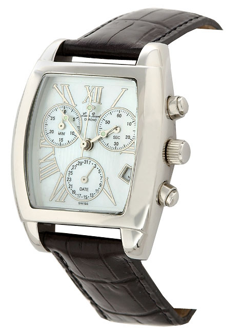 Lucien Piccard Black Strap Chronograph Watch