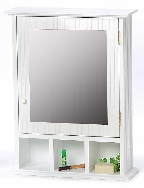 Beau Beadboard Mirrored Wall Cabinet