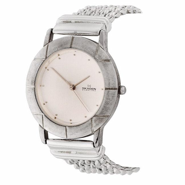 6141c34de9 Skagen Sterling Silver Watch with Silver Dial