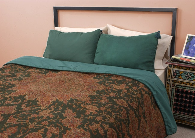 Pashmina Dark Green Duvet Cover Set (Pakistan)