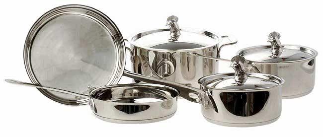 Sabatier Rooster Eight-piece Cookware Set