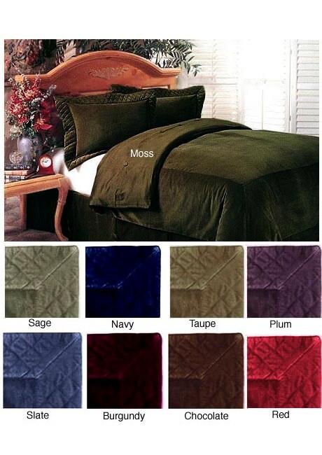 Elegant Velvet Duvet Cover Set with Bedskirt