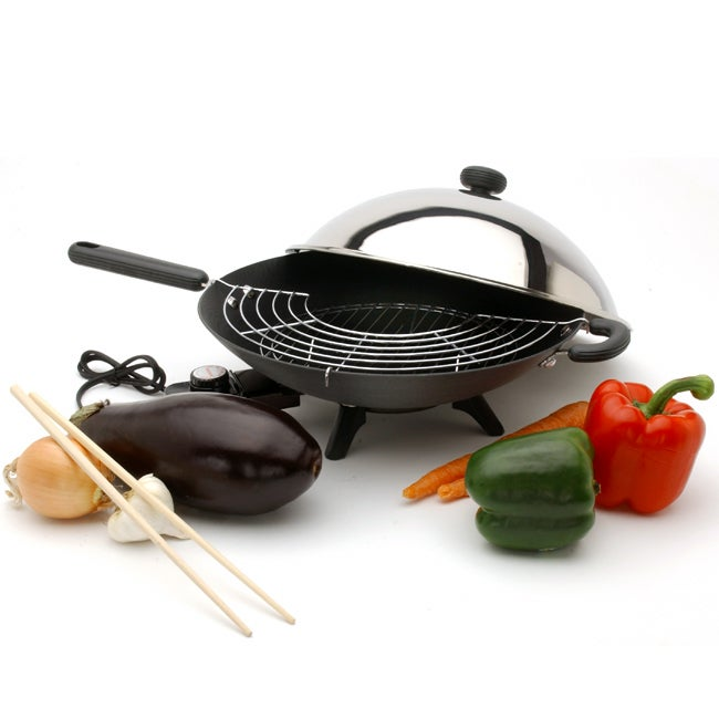 Circulon Electric 14-in. Covered Wok Set