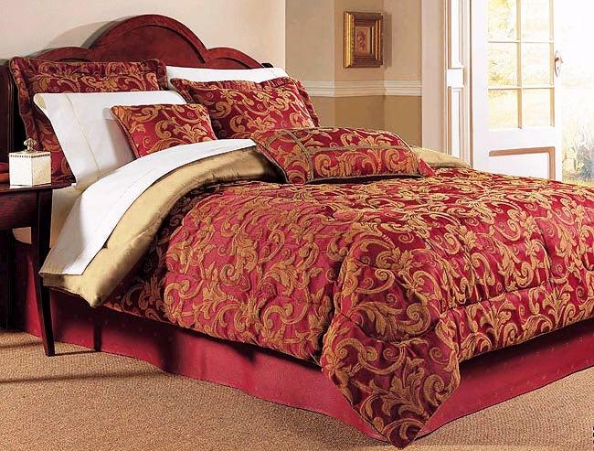 Wamsutta Regal Red Jacquard Comforter Set