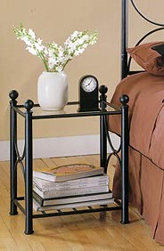 Colby Hammered Pewter Nightstand