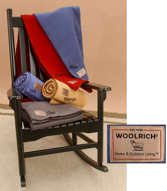 Woolrich Solid Techno Wool Throw