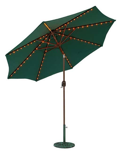 Aluminum 9-ft. Lighted Umbrella (2 colors)