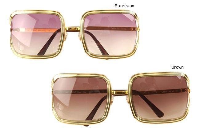 Chloe 79s Gold Frame Sunglasses : Chloe Gold Frame Sunglasses - Free Shipping On Orders Over ...