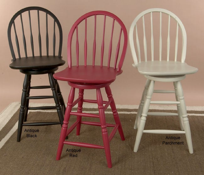 Windsor Swivel 24 Inch Counter Stool 3 Colors Free