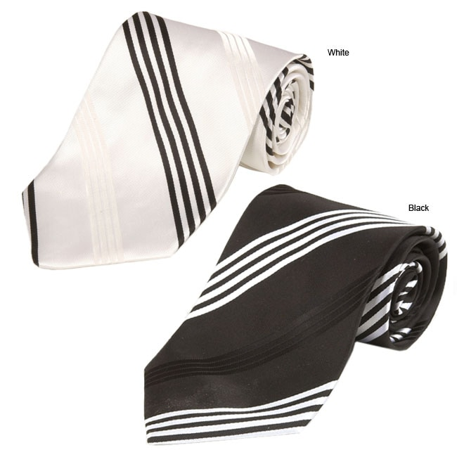 44196fa83401 Shop Bruno Piattelli Men's Striped Silk Ties - Free Shipping On Orders Over  $45 - Overstock - 731379