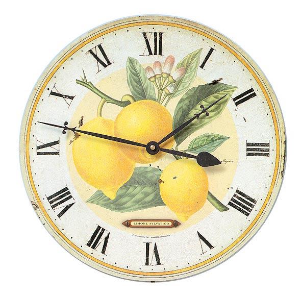 Latin Botanical Lemon 13 Inch Wall Clock Free Shipping