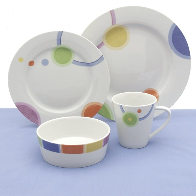 studio nova island sunrise 16 piece dinnerware set free shipping on