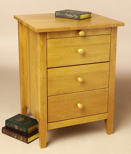 Oslo Wheat Nightstand With Pull Out Tray Free Shipping