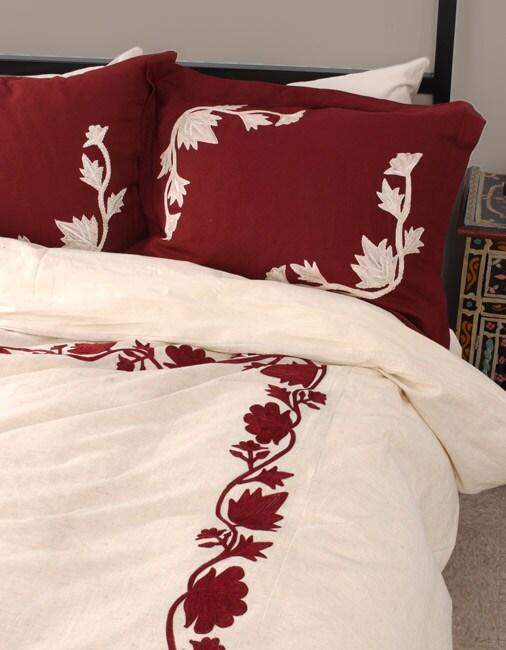 Natural Linen Queen Duvet Cover Set (India)