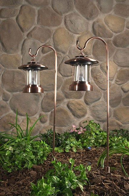 Hurricane Rustic Copper Solar Lights Set Of 2 Free