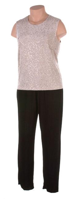Ronni Nicole II Plus Size Black Slinky Pant