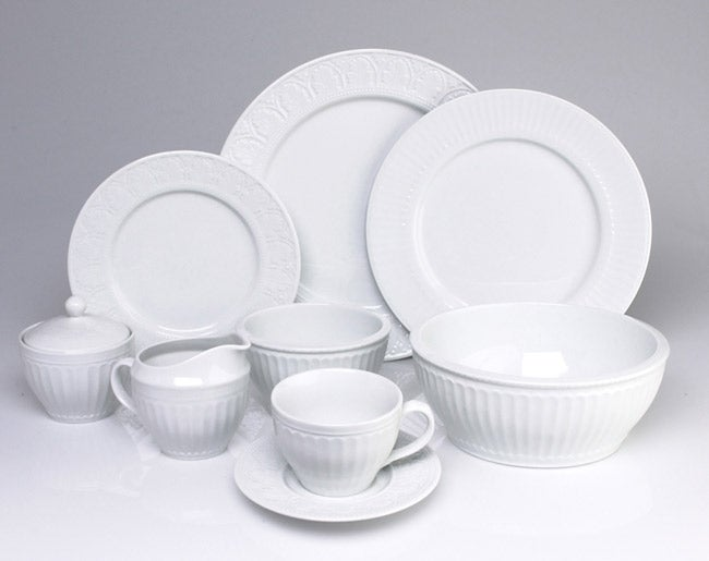 Coventry Parthenon 45 pc Porcelain Dinnerware Set Free Shipping Today Overstockcom 414217