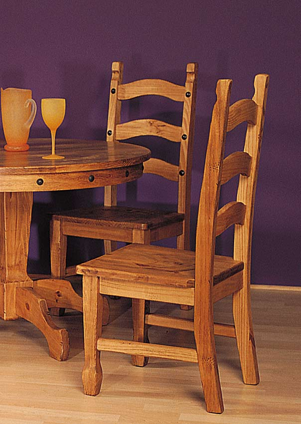 Santa Fe Pine Dining Chairs (Set Of 2)