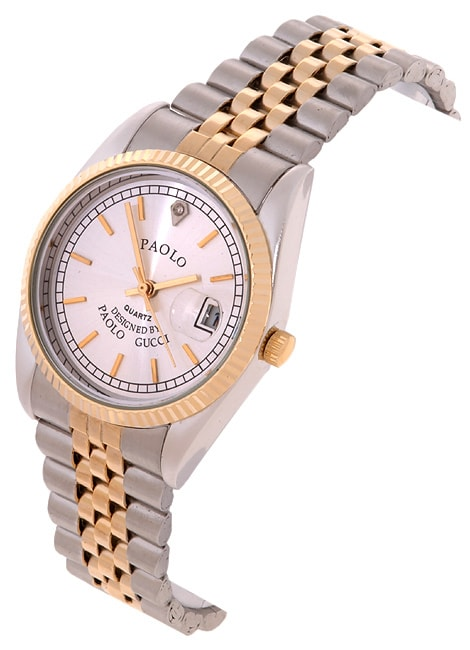 459f383d432 Shop Paolo Gucci Rolex-style Men s Silver Two-tone - Free Shipping ...