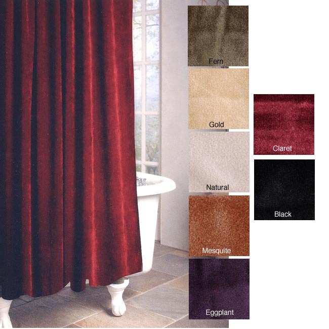 guinevere faux-suede shower curtain - free shipping on orders over