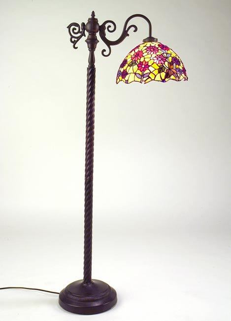 Tiffany style side arm floor lamp free shipping today for Tiffany style floor lamp with side light
