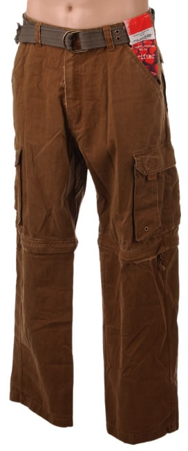 Plugg Young Men's Twill Zip-Off Cargo Pant