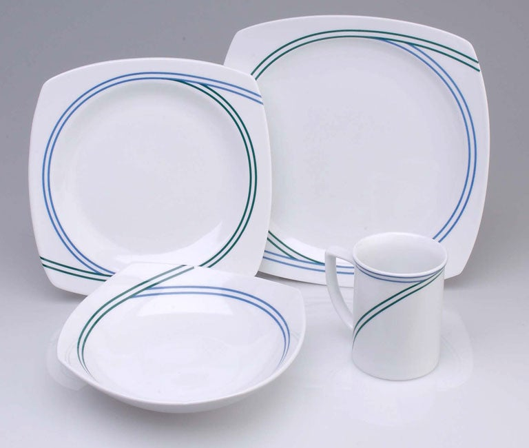 studio nova ringside blue 16 pc dinnerware set free shipping today