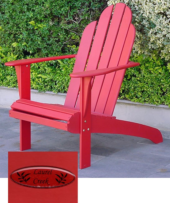 Laurel Creek Red Adirondack Chair