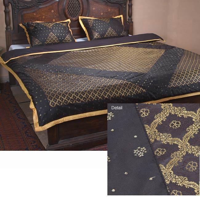 Bridal Sari Black Duvet Cover Set (Pakistan)