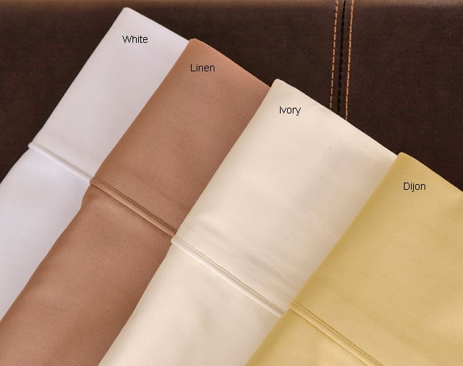 Sateen 1000 Thread Count Egyptian Cotton Solid Sheet Set