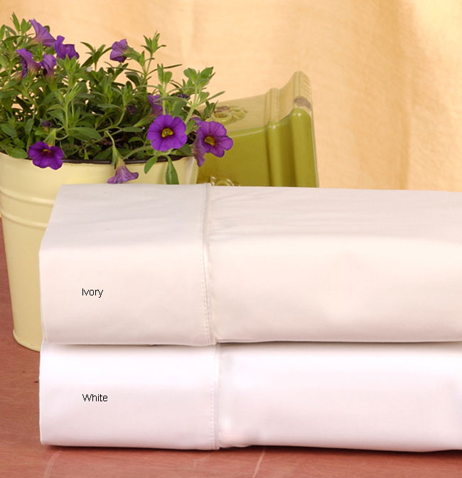 Sateen 1500 Thread Count Solid Cotton Sheet Set