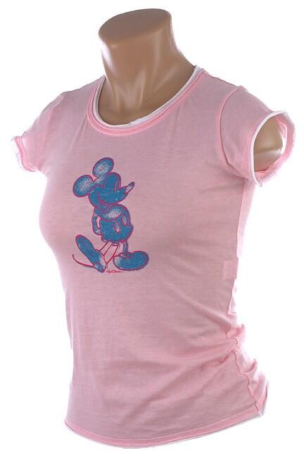 Shop Walt Disney Classic Women S Mickey Mouse Sheer Tee Shirt Free