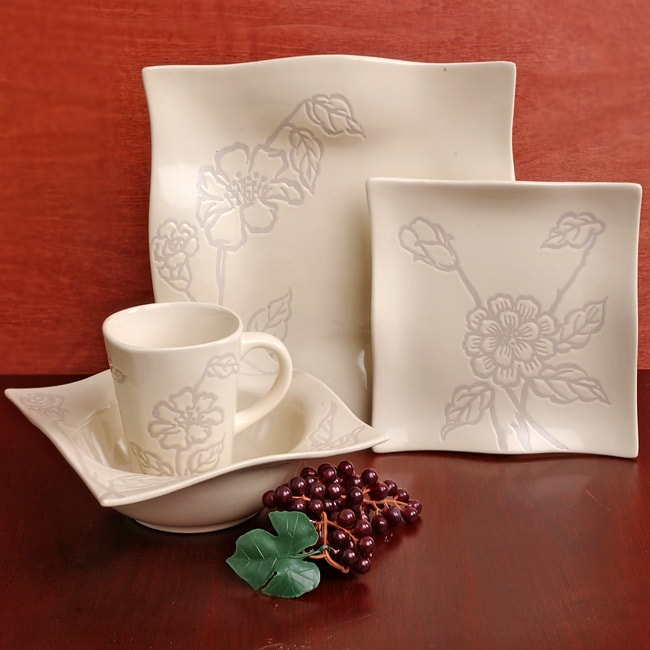 studio nova romantic bloom 16 pc porcelain dinnerware set free