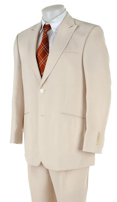 Cubavera Men's Off-white 2-button Peak Lapel Suit