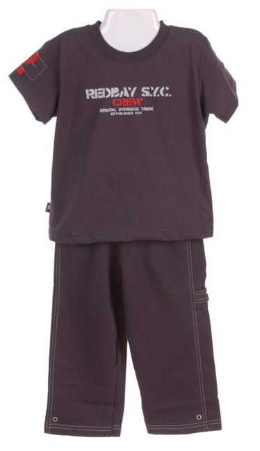 cd61e1806 Shop Mish Mish Toddler Boy's T-Shirt & Carpenter Pant Set - Free ...
