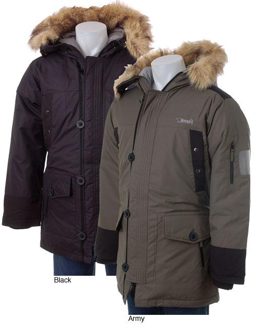 Bear USA Men's Faux Fur Trim Winter Coat - Free Shipping