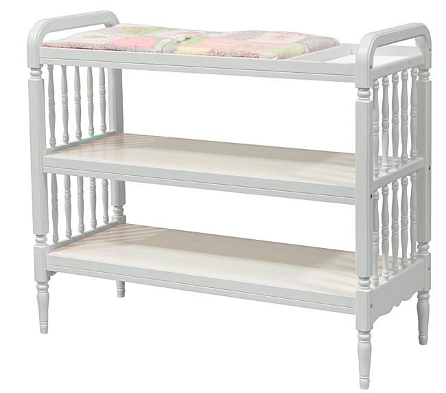 Antique White Spindle Changing Table