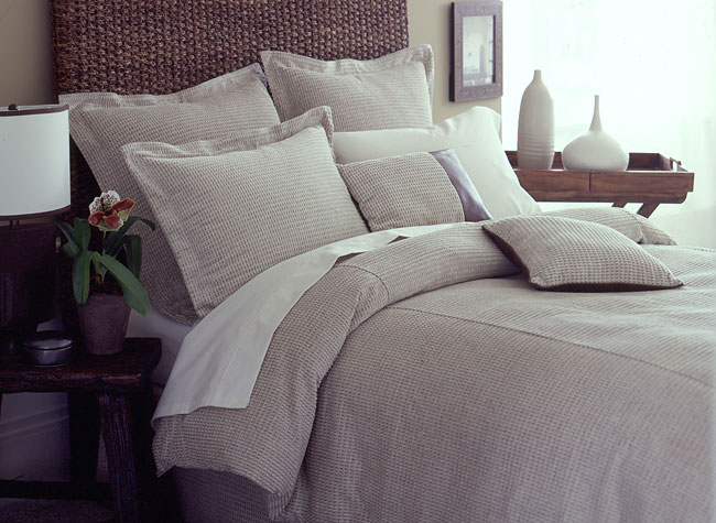 Frosted Waffle Duvet Cover Set with Bedskirt (Twin)